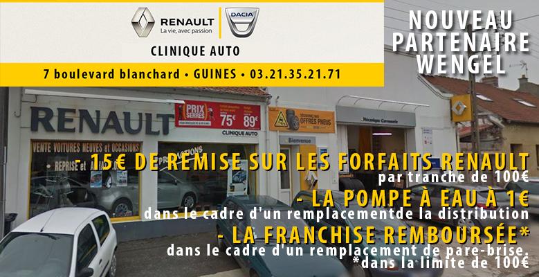 Renault Dacia Guines partenaire Wengel