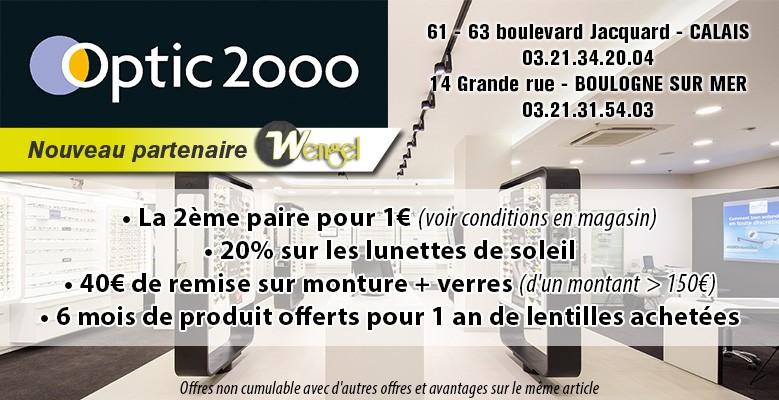 remises Wengel chez Optic 2000 Calais Boulogne