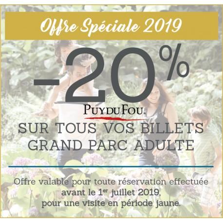 PUY DU FOU - Offre Spéciale 2019 - Adulte