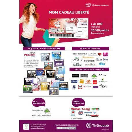 Réduction Chèque Cadeau LIBERTE Multi-Enseignes & Sites E-Commerce - TIR GROUPE by Sodexo -&Wengel
