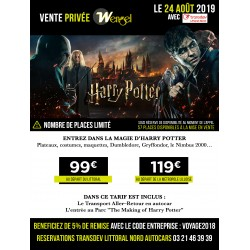 Vente Privée - HARRY POTTER - 24/08/2019