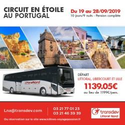 Circuit en étoile au Portugal du 19 au 28/09/2019