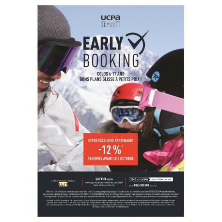 UCPA - Offre Early Booking Colos Hiver 6-17ans &Wengel