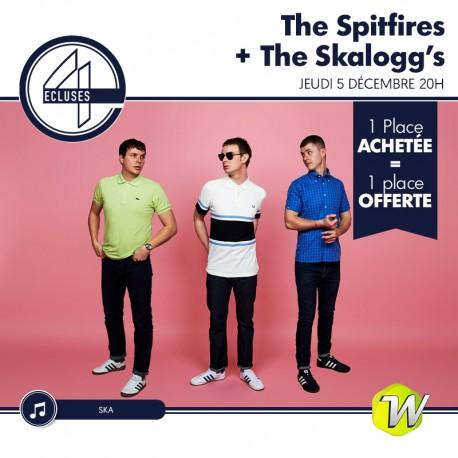 The Spitfires + The Skalogg's - 4 Ecluses - 05/12/2019 - 1 place achetée : 1 place offerte &Wengel
