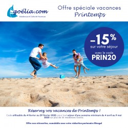 GOÉLIA - Offre Spéciale Vacances Printemps