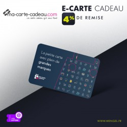 Réduction MA CARTE CADEAU.COM Multi-Enseignes - E-Carte &Wengel