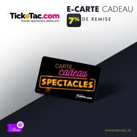Réduction TICKETAC - E-Carte Cadeau &Wengel