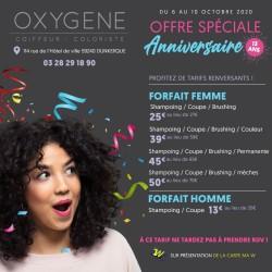 Salon OXYGENE Dunkerque - Offre Anniversaire