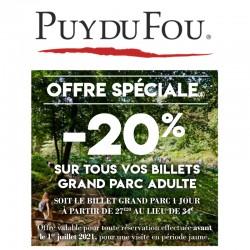 PUY DU FOU - Offre Spéciale 2021 - E-Billet Différé