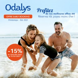 ODALYS - Early Booking Printemps Été 2021