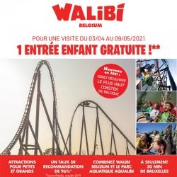Promotion WALIBI Belgium - 1 Billet acheté, 1 Enfant Gratuit Printemps 2021 &Wengel