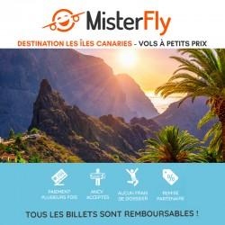 MISTERFLY - Vols à tarifs réduits destination Iles Canaries