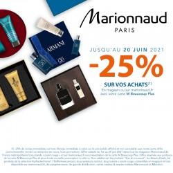 MARIONNAUD - Offre 25% de remise sur vos achats