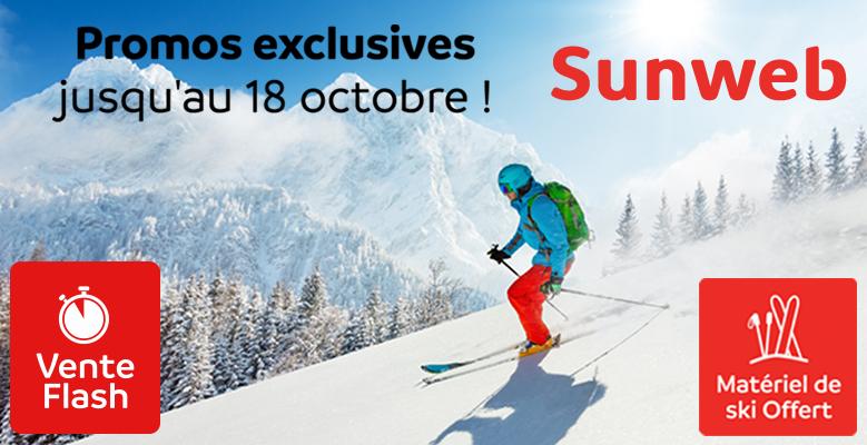 jusqu'à 50% de remise! Hébergement, forfait inclus et location du matériel de ski offerte.