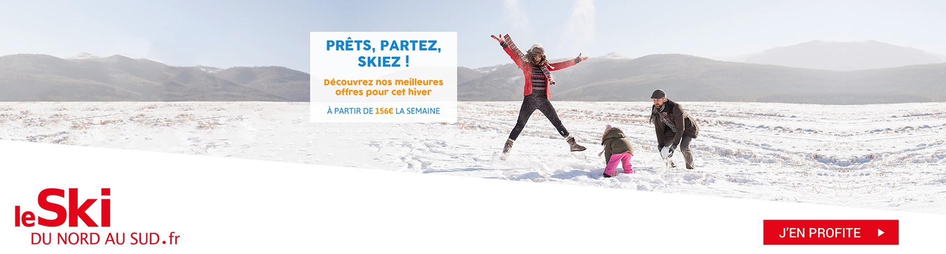 Prêts, Partez, Skiez ! Découvrez nos meilleures offres pour cet hiver - A partir de 156€ la semaine pour le plus grand plaisir des petits et des grands. C'est le moment de skier !