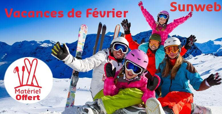 Votre séjour au ski pendant les vacances de Février avec Sunweb A l'occasion des vacances scolaires de Février, partez au ski en famille !  N'oubliez pas, le matériel est offert !  Et profitez de votre remise spéciale Wengel !
